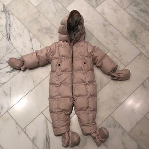 Burberry Baby Girl Snowsuit Pink 12M